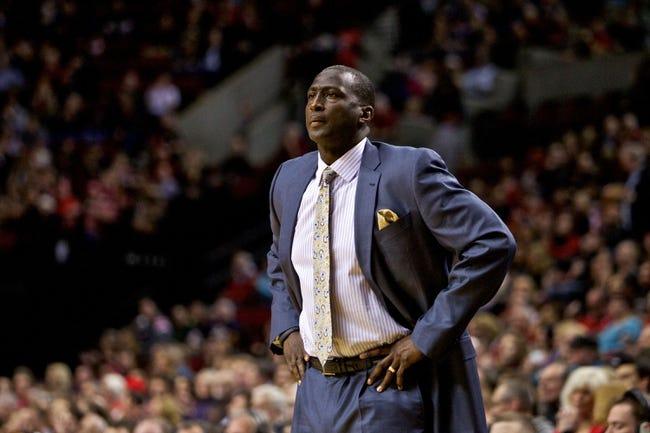 Feb 21, 2014; Portland, OR, USA; Utah Jazz head coach Tyrone Corbin looks on against the Portland Trail Blazers at the Moda Center. Mandatory Credit: Craig Mitchelldyer-USA TODAY Sports