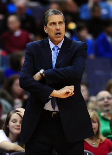 Feb 22, 2014; Washington, DC, USA; Washington Wizards head coach Randy Wittman looks on during the game against the New Orleans Pelicans at Verizon Center. Mandatory Credit: Evan Habeeb-USA TODAY Sports