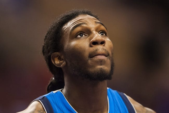 Feb 21, 2014; Philadelphia, PA, USA; Dallas Mavericks forward Jae Crowder (9) during the fourth quarter against the Philadelphia 76ers at the Wells Fargo Center. The Mavericks defeated the Sixers 124-112. Mandatory Credit: Howard Smith-USA TODAY Sports