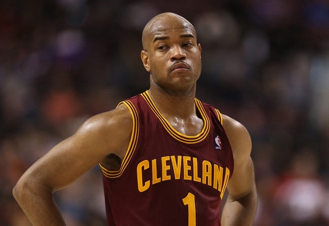 Feb 21, 2014; Toronto, Ontario, CAN; Cleveland Cavaliers guard Jarrett Jack (1) during the game against the Toronto Raptors at Air Canada Centre. The Raptors beat the Cavaliers 98-91. Mandatory Credit: Tom Szczerbowski-USA TODAY Sports
