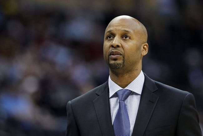 Mar 5, 2014; Denver, CO, USA; Denver Nuggets head coach Brian Shaw watches in the first quarter against the Dallas Mavericks at the Pepsi Center. Mandatory Credit: Isaiah J. Downing-USA TODAY Sports