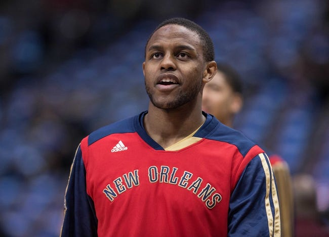Feb 26, 2014; Dallas, TX, USA; New Orleans Pelicans small forward Darius Miller (2) during warmups before the game against the Dallas Mavericks at the American Airlines Center. The Mavericks defeated the Pelicans 108-89. Mandatory Credit: Jerome Miron-USA TODAY Sports