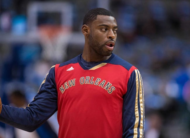 Feb 26, 2014; Dallas, TX, USA; New Orleans Pelicans small forward Tyreke Evans (1) during warmups before the game against the Dallas Mavericks at the American Airlines Center. The Mavericks defeated the Pelicans 108-89. Mandatory Credit: Jerome Miron-USA TODAY Sports
