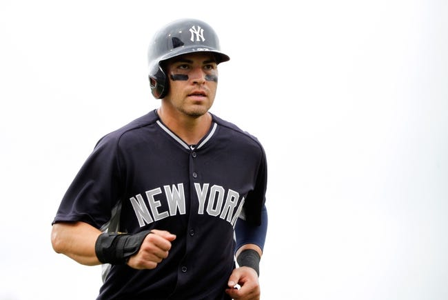 Feb 26, 2014; Bradenton, FL, USA; New York Yankees center fielder Jacoby Ellsbury (22) against the Pittsburgh Pirates at McKechnie Field. Mandatory Credit: Kim Klement-USA TODAY Sports