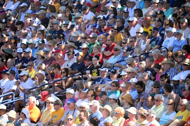 Mar 19, 2014; Peoria, AZ, USA; Baseball fans look on during the game between the Seattle Mariners and the Milwaukee Brewers at Peoria Sports Complex. Mandatory Credit: Joe Camporeale-USA TODAY Sports