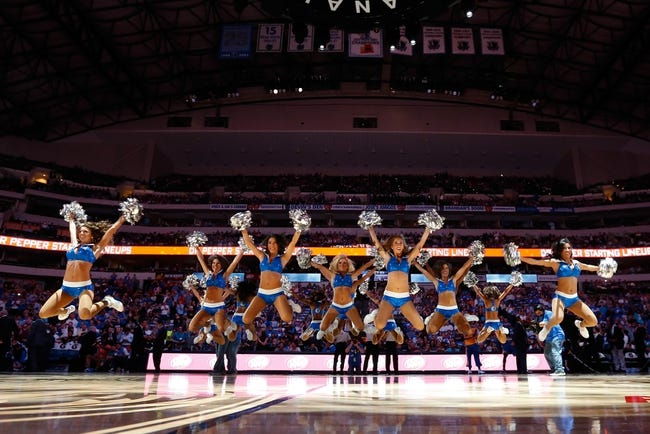 Apr 1, 2014; Dallas, TX, USA; Dallas Mavericks dancers perform before the game against the Golden State Warriors at American Airlines Center. Golden State won 122-120. Mandatory Credit: Kevin Jairaj-USA TODAY Sports