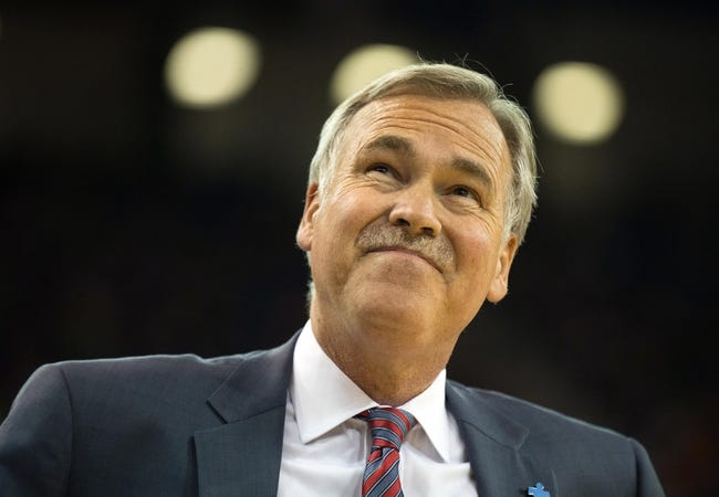 Apr 2, 2014; Sacramento, CA, USA; Los Angeles Lakers head coach Mike D'Antoni between plays against the Sacramento Kings during the third quarter at Sleep Train Arena. The Sacramento Kings defeated the Los Angeles Lakers 107-102. Mandatory Credit: Kelley L Cox-USA TODAY Sports