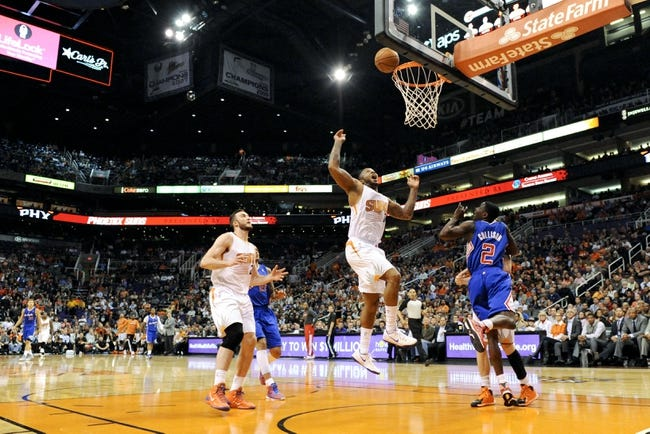 Apr 2, 2014; Phoenix, AZ, USA; Phoenix Suns forward P.J Tucker (17) shoots the ball during the third quarter against the Los Angeles Clippers at US Airways Center. The Clippers won 112-108. Mandatory Credit: Casey Sapio-USA TODAY Sports
