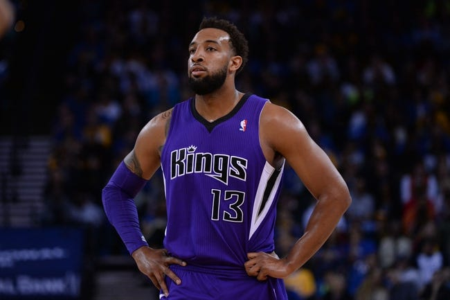 April 4, 2014; Oakland, CA, USA; Sacramento Kings forward Derrick Williams (13) looks on against the Golden State Warriors during the first quarter at Oracle Arena. The Warriors defeated the Kings 102-69. Mandatory Credit: Kyle Terada-USA TODAY Sports