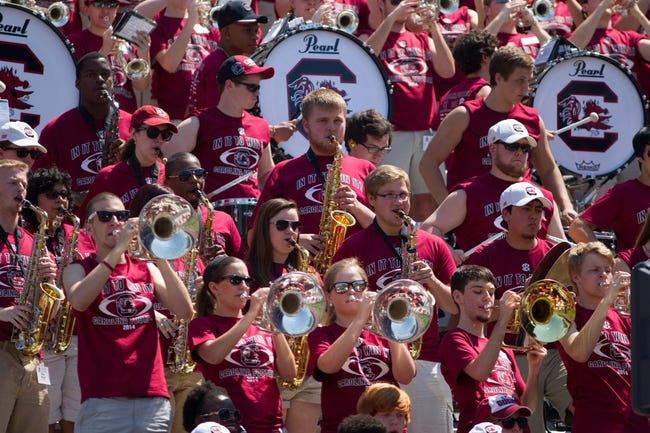 Apr 12, 2014; Columbia, SC, USA; South Carolina Gamecocks marching band during the South Carolina spring game at Williams-Brice Stadium. Mandatory Credit: Joshua S. Kelly-USA TODAY Sports