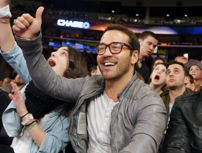 Apr 13, 2014; New York, NY, USA;  Actor and producer Jeremy Piven court side during game between the New York Knicks and the Chicago Bulls at Madison Square Garden. New York Knicks defeat the Chicago Bulls 100-89. Mandatory Credit: Jim O'Connor-USA TODAY Sports