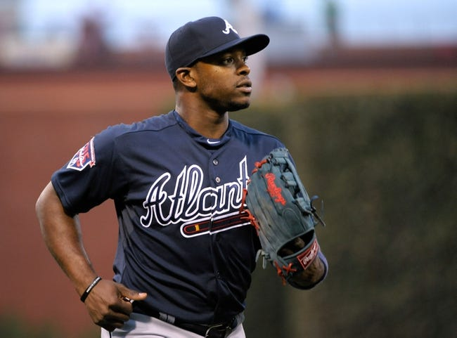 Apr 14, 2014; Philadelphia, PA, USA; Atlanta Braves center fielder B.J. Upton (2) before game against the Philadelphia Phillies at Citizens Bank Park. The Braves defeated the Phillies, 9-6. Mandatory Credit: Eric Hartline-USA TODAY Sports