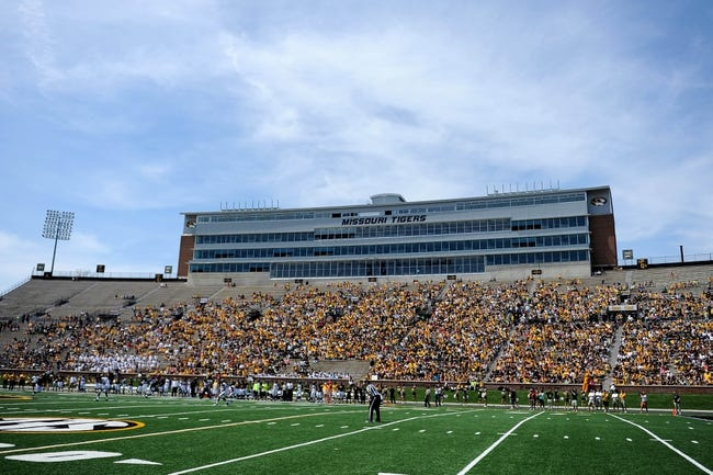 Apr 19, 2014; Columbia, MO, USA; Fans in the stadium watch on during the Black & Gold Game at Faurot Field. Mandatory Credit: Dak Dillon-USA TODAY Sports