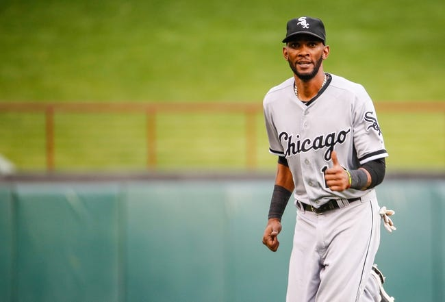 Apr 19, 2014; Arlington, TX, USA; Chicago White Sox shortstop Alexei Ramirez (10) reacts before the game against the Texas Rangers at Globe Life Park in Arlington. Texas won 6-3. Mandatory Credit: Kevin Jairaj-USA TODAY Sports