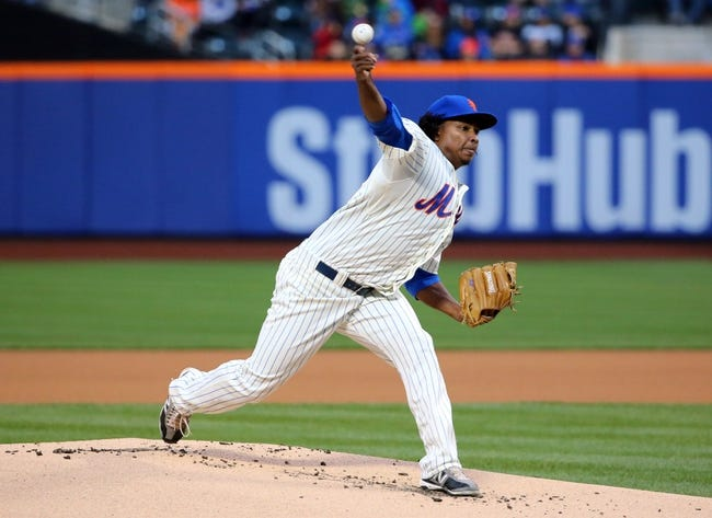 Apr 26, 2014; New York, NY, USA;  New York Mets starting pitcher Jenrry Mejia (58) delivers a pitch during the first inning against the Miami Marlins at Citi Field. Mandatory Credit: Anthony Gruppuso-USA TODAY Sports