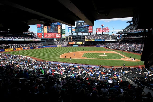 Apr 27, 2014; New York, NY, USA; General View of Citi Field during the third inning of a game between the New York Mets and the Miami Marlins at Citi Field. Mandatory Credit: Brad Penner-USA TODAY Sports