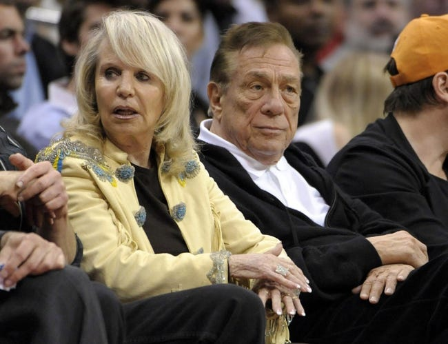 Mar 15, 2012, Los Angeles, CA, USA; Los Angeles Clippers owner Donald Sterling (right) and wife Shelly Sterling attend the game against the Phoenix Suns at the Staples Center. The Suns defeated the Clippers 91-87. Mandatory Credit: Kirby Lee/Image of Sport-USA TODAY Sports
