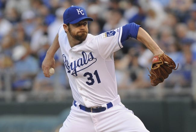 May 3, 2014; Kansas City, MO, USA; Kansas City Royals relief pitcher Louis Coleman (31) throws a pitch against the Detroit Tigers in the fifth inning at Kauffman Stadium. Mandatory Credit: John Rieger-USA TODAY Sports