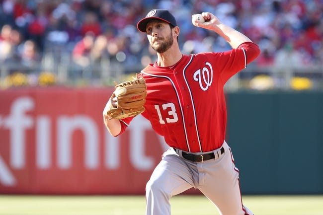 May 4, 2014; Philadelphia, PA, USA; Washington Nationals relief pitcher Jerry Blevins (13) pitches in the 8th inning of a game against the Philadelphia Phillies at Citizens Bank Park. The Phillies defeated the Nationals 1-0. Mandatory Credit: Bill Streicher-USA TODAY Sports