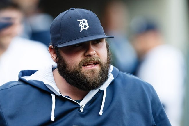 May 5, 2014; Detroit, MI, USA; Detroit Tigers relief pitcher Joba Chamberlain (44) in the dugout against the Houston Astros at Comerica Park. Mandatory Credit: Rick Osentoski-USA TODAY Sports