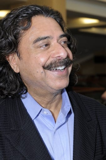 May 9, 2014; Jacksonville, FL, USA; Jacksonville Jaguars owner Shahid Khan seen at the press conference for Blake Bortles (Central Florida) at the Upper West Touchdown Club at EverBank Field a day after Bortles was   selected as the third overall pick in the first round of the 2014 NFL draft by the Jacksonville Jaguars.  Mandatory Credit: John David Mercer-USA TODAY Sports
