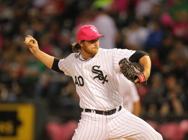 May 10, 2014; Chicago, IL, USA; Chicago White Sox relief pitcher Daniel Webb (40) delivers a pitch during the eighth inning against the Arizona Diamondbacks at U.S Cellular Field. Mandatory Credit: Dennis Wierzbicki-USA TODAY Sports