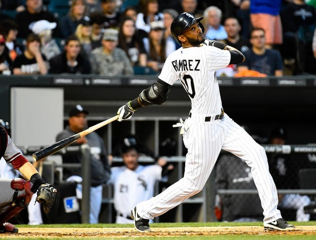 May 9, 2014; Chicago, IL, USA; Chicago White Sox shortstop Alexei Ramirez (10) during the fourth inning at U.S Cellular Field. Mandatory Credit: Mike DiNovo-USA TODAY Sports