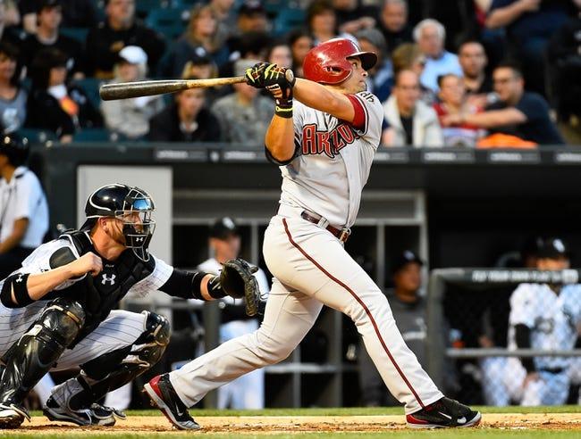 May 9, 2014; Chicago, IL, USA; Arizona Diamondbacks right fielder Gerardo Parra (8) during the fourth inning at U.S Cellular Field. Mandatory Credit: Mike DiNovo-USA TODAY Sports
