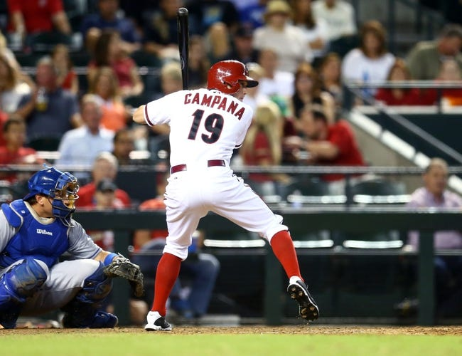 Sept. 17, 2013; Phoenix, AZ, USA: Arizona Diamondbacks outfielder Tony Campana against the Los Angeles Dodgers at Chase Field. Mandatory Credit: Mark J. Rebilas-USA TODAY Sports