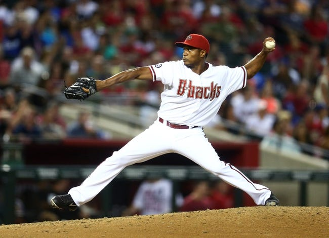 Sept. 17, 2013; Phoenix, AZ, USA: Arizona Diamondbacks pitcher Tony Sipp against the Los Angeles Dodgers at Chase Field. Mandatory Credit: Mark J. Rebilas-USA TODAY Sports