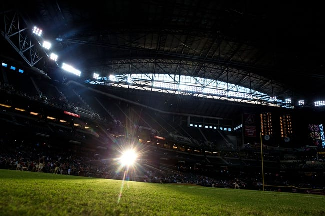 Sept. 17, 2013; Phoenix, AZ, USA: The sun shines onto the field of Chase Field prior to the game between the Arizona Diamondbacks against the Los Angeles Dodgers. Mandatory Credit: Mark J. Rebilas-USA TODAY Sports