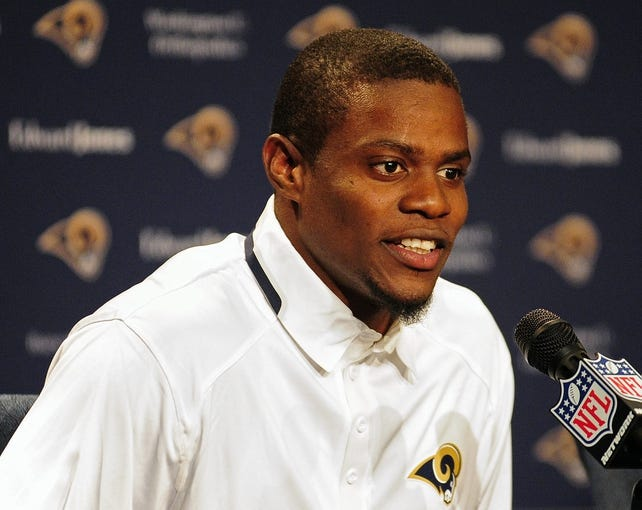 May 13, 2014; St. Louis, MO, USA; St. Louis Rams second round pick defensive back Lamarcus Joyner talks with the media during a press conference at Rams Park. Mandatory Credit: Jeff Curry-USA TODAY Sports