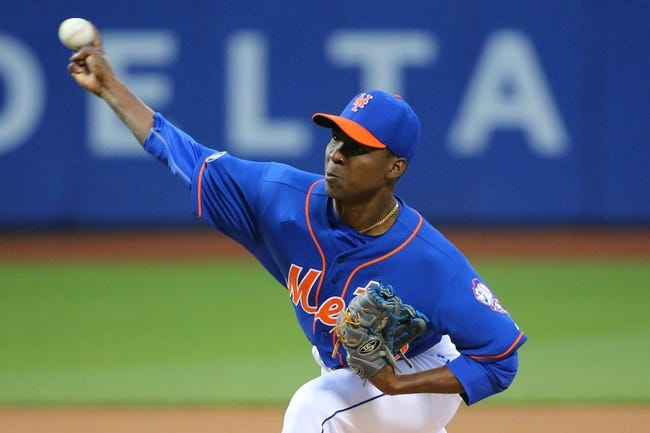 May 14, 2014; New York, NY, USA; New York Mets starting pitcher Rafael Montero (50) pitches during the first inning against the New York Yankees at Citi Field. Mandatory Credit: Anthony Gruppuso-USA TODAY Sports