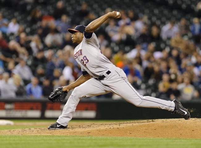 May 22, 2014; Seattle, WA, USA; Houston Astros relief pitcher Tony Sipp (29) pitches to the Seattle Mariners during the seventh inning at Safeco Field. Mandatory Credit: Steven Bisig-USA TODAY Sports