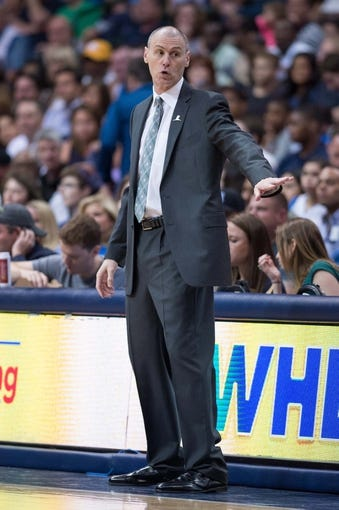 Apr 12, 2014; Dallas, TX, USA; Dallas Mavericks head coach Rick Carlisle during the game against the Phoenix Suns at the American Airlines Center. The Mavericks defeated the Suns 101-98. Mandatory Credit: Jerome Miron-USA TODAY Sports