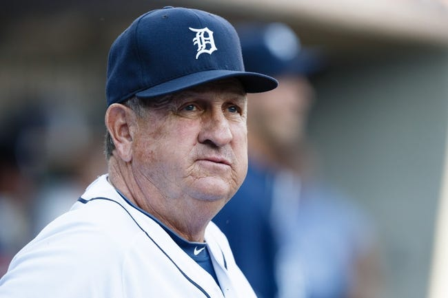 Jun 7, 2014; Detroit, MI, USA; Detroit Tigers bench coach Gene Lamont (22) in the dugout against the Boston Red Sox at Comerica Park. Mandatory Credit: Rick Osentoski-USA TODAY Sports