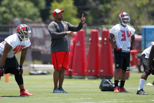 Jun 10, 2014; Tampa Bay, FL, USA;  Tampa Bay Buccaneers running back coach Tim Spencer at One Buccaneer Place. Mandatory Credit: Kim Klement-USA TODAY Sports