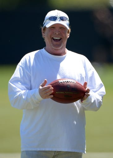 Jun 17, 2014; Alameda, CA, USA; Oakland Raiders owner Mark Davis at minicamp at Raiders Practice Facility. Mandatory Credit: Kirby Lee-USA TODAY Sports