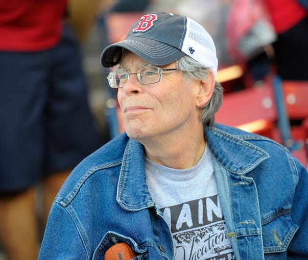 Jun 16, 2014; Boston, MA, USA; American author Stephen King in attendance for a game between the Boston Red Sox and Minnesota Twins at Fenway Park. Mandatory Credit: Bob DeChiara-USA TODAY Sports