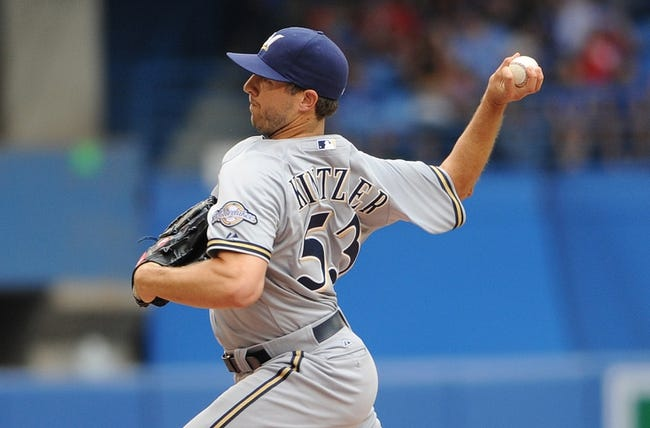 Jul 2, 2014; Toronto, Ontario, CAN;  Milwaukee Brewers relief pitcher Brandon Kintzler delivers a pitch during the Brewers 7-4 loss to Toronto Blue Jays at Rogers Centre. Mandatory Credit: Dan Hamilton-USA TODAY Sports