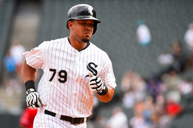 Jul 1, 2014; Chicago, IL, USA; Chicago White Sox first baseman Jose Abreu (79) during the ninth inning at U.S Cellular Field. Mandatory Credit: Mike DiNovo-USA TODAY Sports