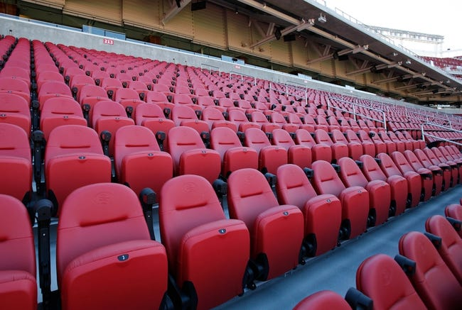 Jul 17, 2014; Santa Clara, CA, USA; A general view of stadium seating during a tour before the ribbon cutting ceremony at Levi's Stadium. Mandatory Credit: Kelley L Cox-USA TODAY Sports