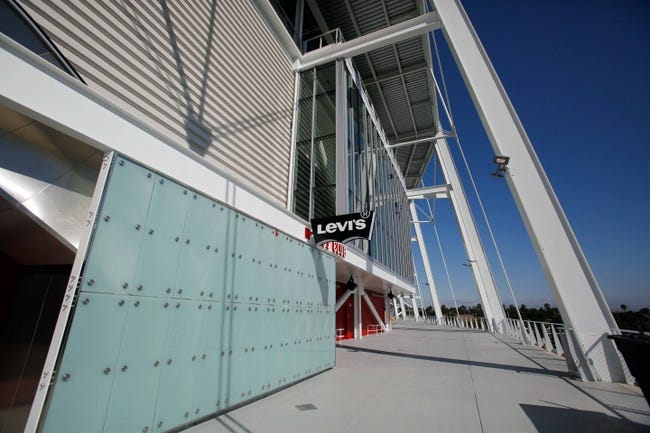 Jul 17, 2014; Santa Clara, CA, USA; General view of an exterior concourse during a tour before the ribbon cutting ceremony at Levi's Stadium. Mandatory Credit: Kelley L Cox-USA TODAY Sports