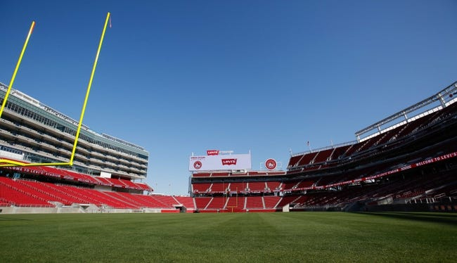 Jul 17, 2014; Santa Clara, CA, USA; A general view of the field during a tour before the ribbon cutting ceremony at Levi's Stadium. Mandatory Credit: Kelley L Cox-USA TODAY Sports