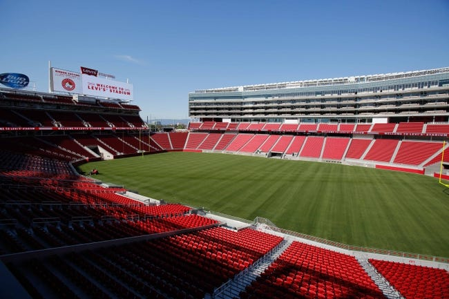 Jul 17, 2014; Santa Clara, CA, USA; A general view of the new NFL stadium during a tour before the ribbon cutting ceremony at Levi's Stadium. Mandatory Credit: Kelley L Cox-USA TODAY Sports