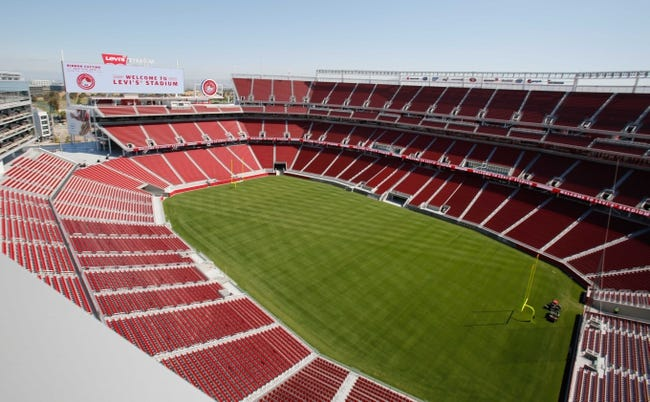 Jul 17, 2014; Santa Clara, CA, USA; General view of the new NFL stadium during a tour before the ribbon cutting ceremony at Levi's Stadium. Mandatory Credit: Kelley L Cox-USA TODAY Sports