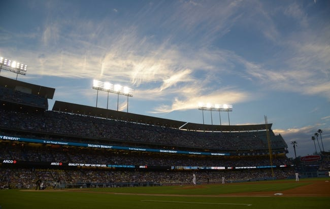 Jul 30, 2014; Los Angeles, CA, USA; General view of Dodger Stadium during the MLB game between the Atlanta Braves and the Los Angeles Dodgers. Mandatory Credit: Kirby Lee-USA TODAY Sports