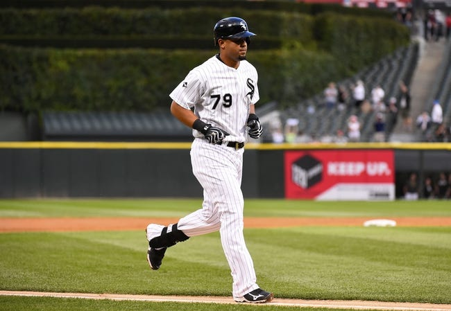 Aug 19, 2014; Chicago, IL, USA; Chicago White Sox first baseman Jose Abreu (79) rounds third base after hitting a home run against Baltimore Orioles starting pitcher Chris Tillman (not pictured) during the first inning at U.S Cellular Field. Mandatory Credit: Mike DiNovo-USA TODAY Sports