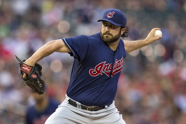 Aug 20, 2014; Minneapolis, MN, USA; Cleveland Indians starting pitcher T.J. House (58) delivers a pitch in the first inning against the Minnesota Twins at Target Field. Mandatory Credit: Jesse Johnson-USA TODAY Sports