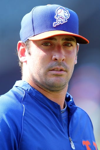 Aug 26, 2014; New York, NY, USA; New York Mets starting pitcher Matt Harvey (33) before a game against the Atlanta Braves at Citi Field. Mandatory Credit: Brad Penner-USA TODAY Sports